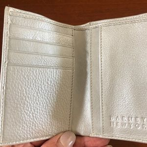 Silver leather Card case